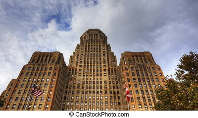 Timelapse of Buffalo City Hall in New York