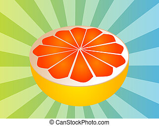 Sliced half grapfruit - Sliced half pink grapefruit fresh...
