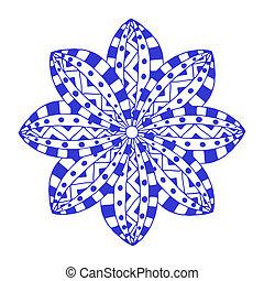Rosette ornament. Isolated on white. Art Illustration