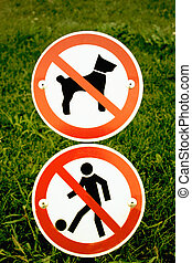 restricted dog and children play area