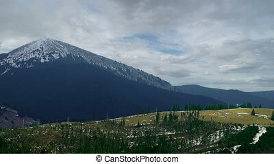 Cloudy Sky in Mountains - Dark Cloudy Sky in Mountains...