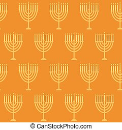 Hanukkah seamless pattern Seamless pattern with menorah for...