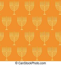 Hanukkah seamless pattern. Seamless pattern with menorah for...