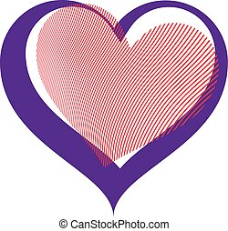 Valentines day conceptual vector art illustration, loving...