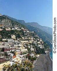 Positano on the Amalfi Coast of Italy - The hillside village...