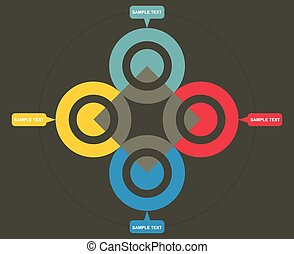 Flow chart template - Vector flow chart template, with color...