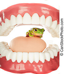 Frog in throat