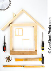 house made out of tools - shape of house made out of tools...