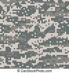 American Military Digital Camo - An illustration of American...