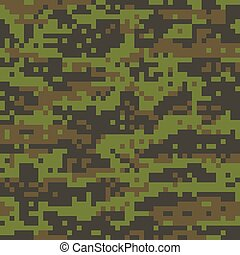 Digital Woodland Camouflage Military Pattern - A digital...