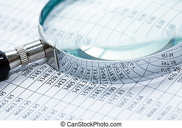Magnifying Glass On Digits