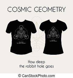 Cosmic Geometry T-Shirt - Cosmic Geometry. Vector t-shirt...
