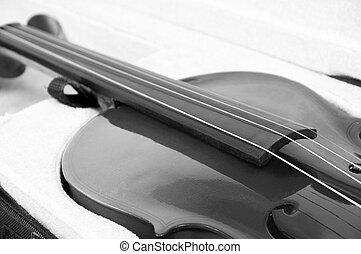 Closeup of beautiful violin in a case - Closeup of a...