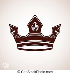 Royal design element, regal icon Vector majestic crown,...
