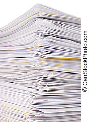 Stack of files - Large stack of documents or files, overload...