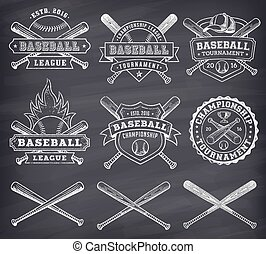 Logotipos,  vector, beisball, pizarra