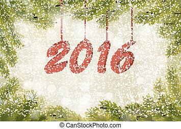 Happy new year 2016 New year design template