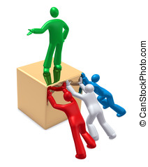 Teamwork or competition? - People working together or...