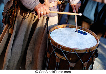 calle, tambores