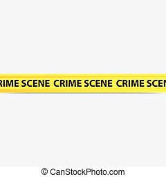 crime scene tape - vector image of a yellow crime scene tape