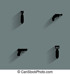 Weapon Silhouette Icons