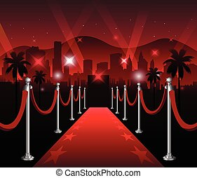 Red carpet movie premiere elegant event hollywood background...