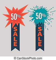 Sale Stickers with place for text