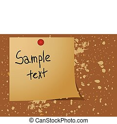 Note pad reminder - Editable vector background - Note pad...