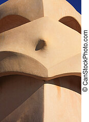 Barcelona and Gaudí: La Pedrera or Casa Mila - On the...