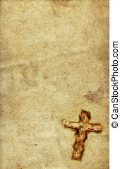 Vintage Holy Cross against grunge paper background
