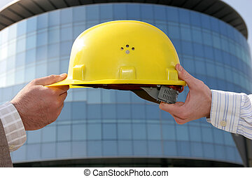 A protective engineers helmet, change