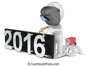 Happy New Year. - Dude 3D character The Welder changing...
