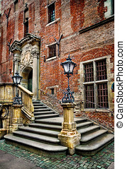 Old town hall stairs - Gdansk - Poland - Old town hall...