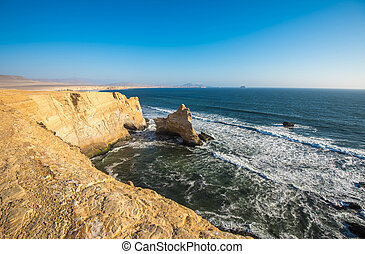 The Cathedral in Paracas Natural Reserve, Peru - The...