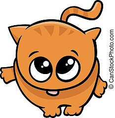 cute little cat cartoon - Cartoon Illustration of Cute...