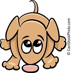 cute dog cartoon illustration - Cartoon Illustration of Cute...