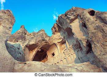 Church in rock ruins