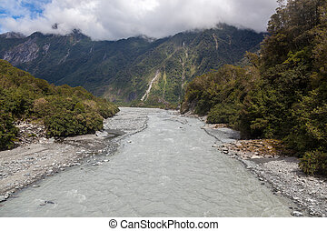 View of the Fox River in New Zealand