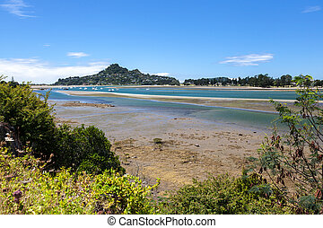 View of Tairua inlet in new Zealand