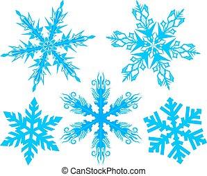 Set Snowflake. Flake of snow