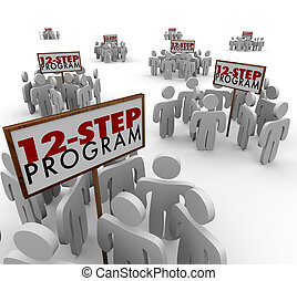 12-Step-Program-Support-Group-Meetings-Signs - 12 Step...