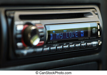 My love audio car - Black audio car control panel with my...