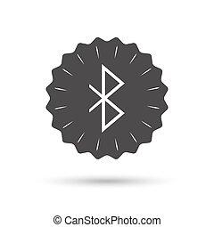 Bluetooth sign icon Mobile network symbol - Vintage emblem...
