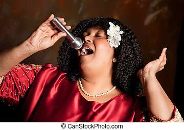 Singing for the Lord - gospel singer singing a hymn