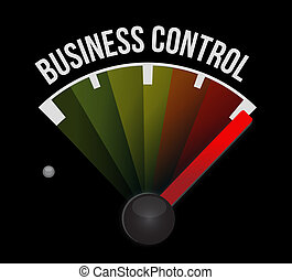 business control meter sign concept