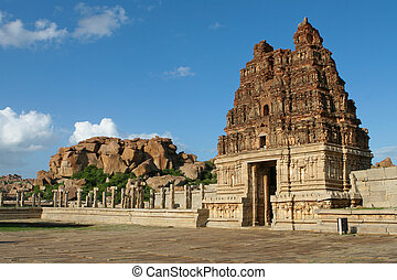 Vittala temple in Hampi, Karnataka province, South India,...