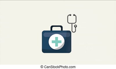 Medical icon with doctor, video animation, HD1080