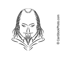 Hand drawn aristocrat cardinal Prince of Church - Hand drawn...
