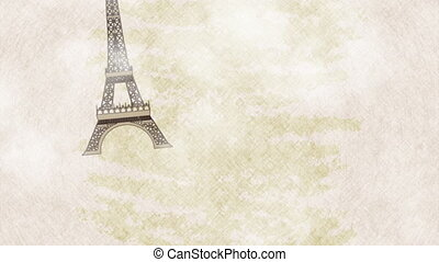 I love france card,  Video animation, HD1080