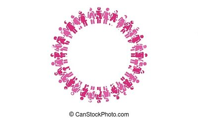 Breast cancer awareness design, Video Animation HD1080